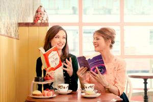 Renowned pop musician Sophie Ellis-Bextor and her mother, presenter, writer and actress Janet Ellis pictured together revealing the books written by women they most wished to share with each other, to launch the Baileys Women's Prize for Fiction #ThisBookClub campaign