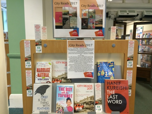 City Reads Display - Hove Library 2017 - 2